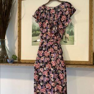 Studio B Bobeau Floral Wrap Midi Dress